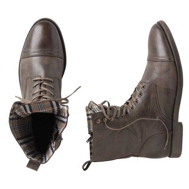 Boots montantes cuir marron lacets t40 au 45 99 copier - Cuire marron au four ...
