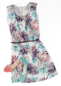 robe imprimée avec ceinture et chaussures (1) (Copier)