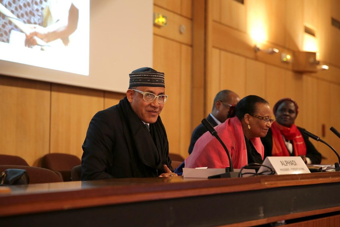 ALPHADI FIMA PRESS CONFERENCE AT UNESCO, PHOTO COURTESY OF UNITED FASHION FOR PEACE COPYRIGHT GABRIELLE BIRNHOLZ 9W5A1145 (Copier)