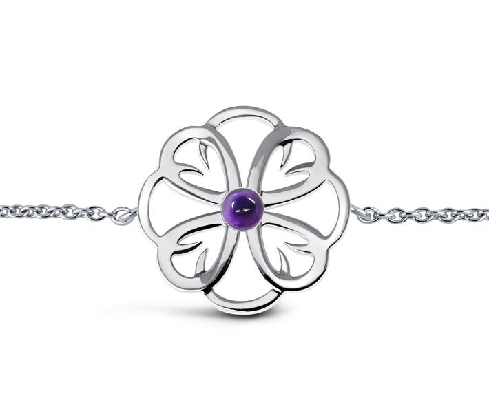 bracelet meandre cabochon