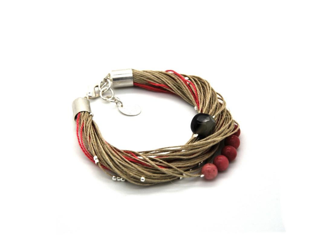 Bracelet Taha agate rose (Copier)