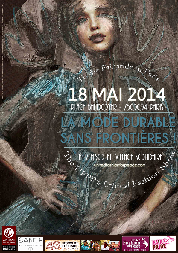 Webaffiche UFFP DEFILE DE MODE ETHIQUE- FAIRPRIDE PARIS 2014