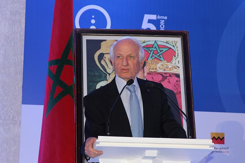 André Azoulay Conseiller de sa Majesté le Roi du Maroc, prend la parole et fait l'ouverture du WTE Mai 2014