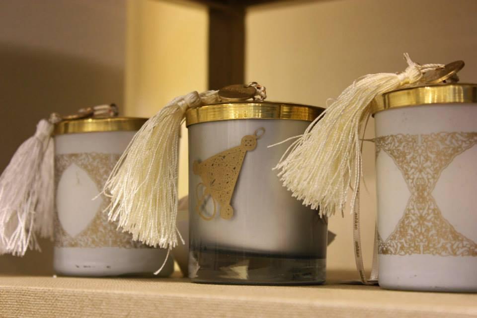 collection bougies en cuivre