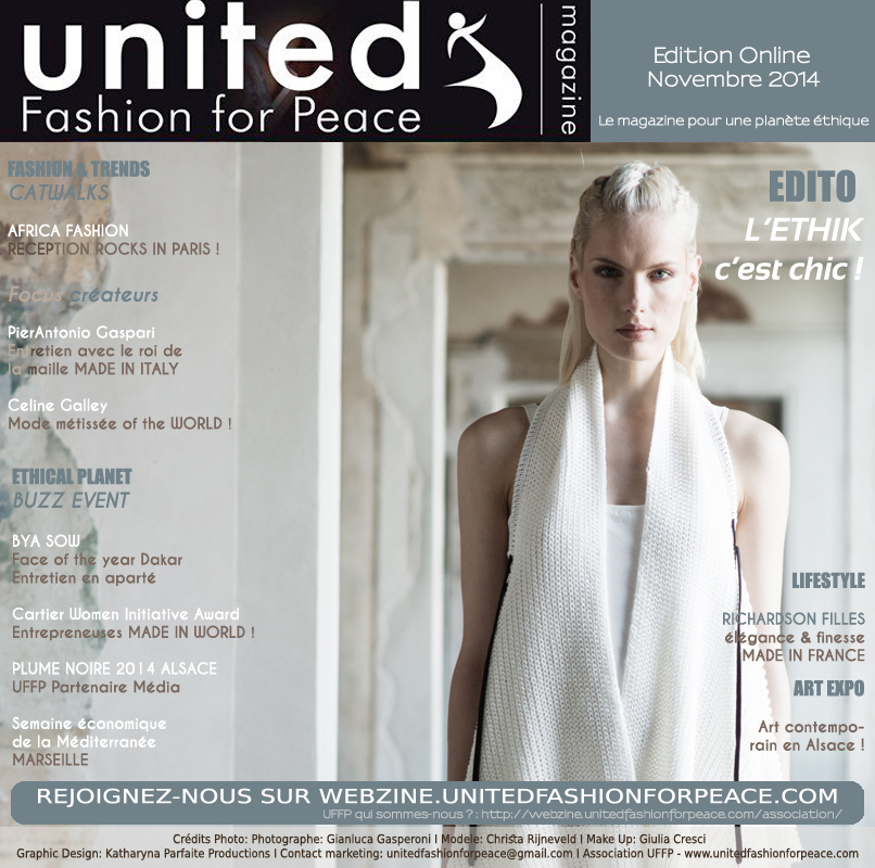 Couverture Europe UFFP novembre 2014 Pierantonio Gapari Mode made in Italy