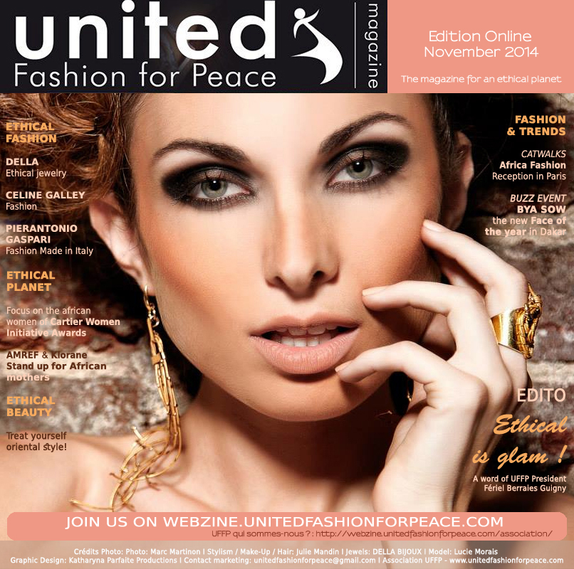 International Cover UFFP USA. STYLISM DELLA jewelry