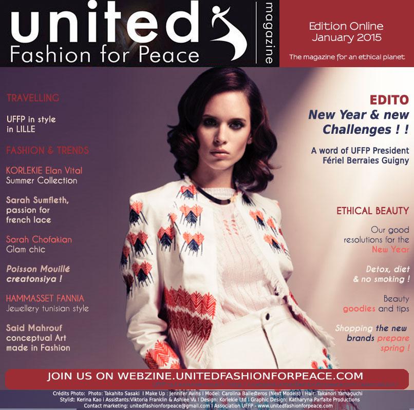 International english Cover UFFP january edition. Stylism KORLIEKE UK