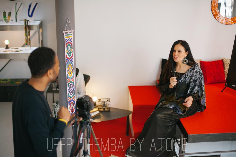 UFFP porte les accessoires Ithemba et la robe Ouarda Helli, reportage pour le Courrier de l'Atlas tv web