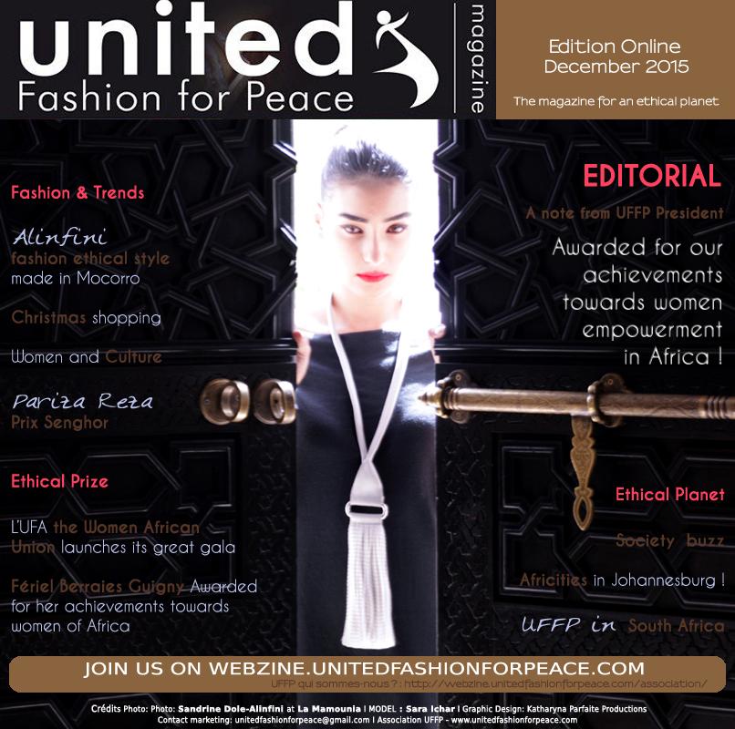 COUVERTURE UFFP décembre 2015 Stylisme Sandrine Dole Maroc