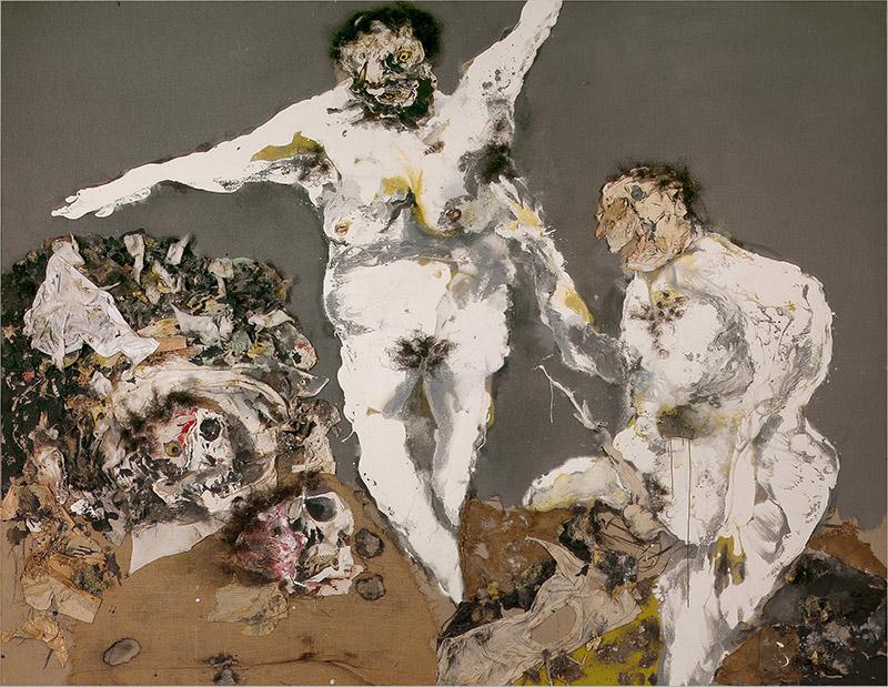 REBEYROLLE Paul. Splendeur de vérité, 1994, technique mixte, 280x240cm © Atelier Démoulin