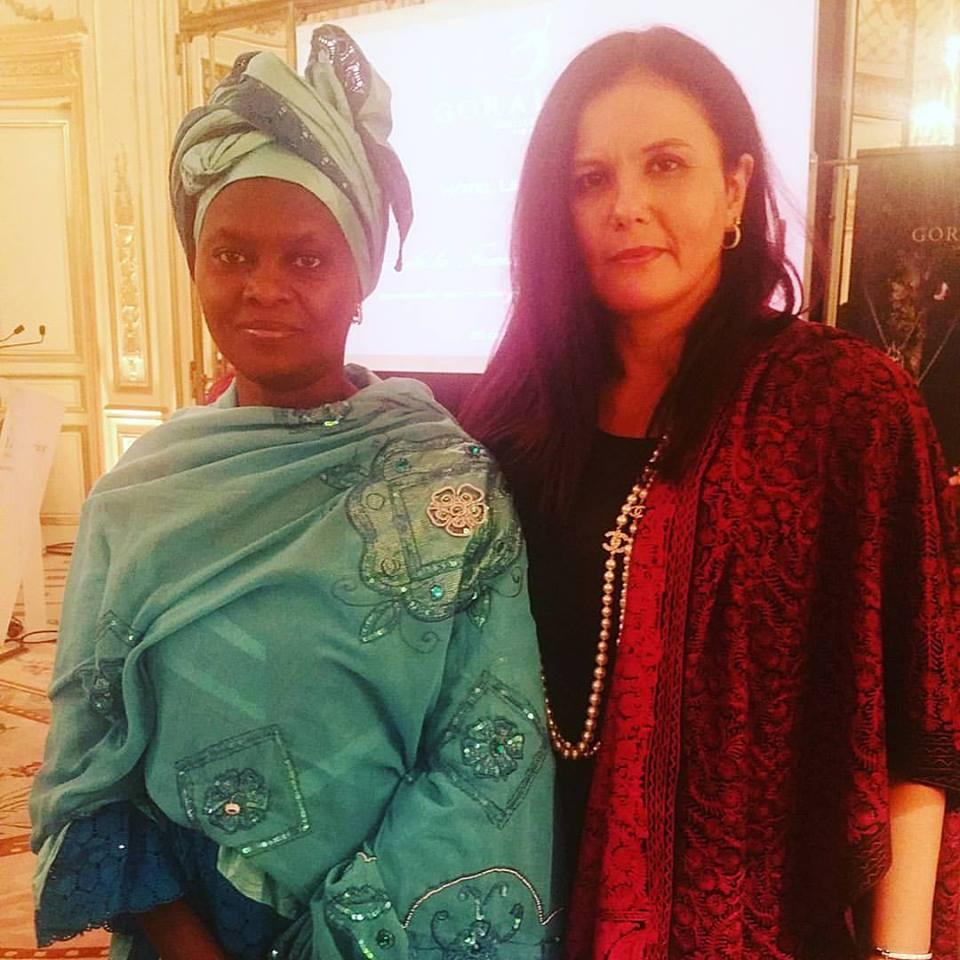 Fatimata Mbaye lauréate du Prix Goralska et Fériel Berraies Guigny Pdte de United Fashion for Peace.Prix de l'Action Féminine 2015 de l'Union des Femmes Africaines Bruxelles