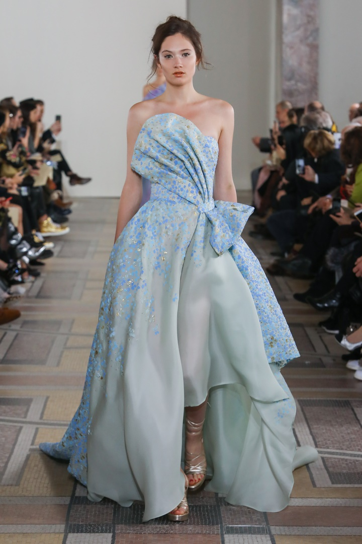 Runway look from the Georges Chakra Fashion Show Couture Collection Spring Summer 2020 in Paris